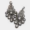 Oversized Black Diamond Crystal Statement Earrings | 423957