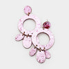 Pink Glitter Hoop Felt Fun Fashion Pageant Earrings | 409717