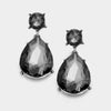 Little Girls Black Diamond Teardrop Earrings | 336972
