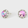 Pink Volcano Stud Earrings 0.5"