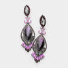 Victorian Purple Crystal Double Oval Pageant Earrings | 413486