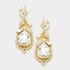 Crystal Teardrop Vine Earrings on Gold | 339785