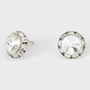 Crystal Stud Earrings 0.5"