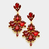 Red Crystal Chandelier Earrings | 337015