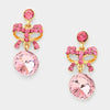 Little Girls Pink Drop Earrings | 199124