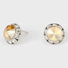 Gold Stud Earrings 0.5"