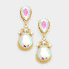 Little Girls AB Teardrop Earrings on Gold | 214203