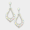 Oversized Cut Out AB Crystal Teardrop Earrings | 368845
