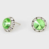 Peridot Stud Earrings 0.5"