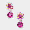 Little Girls  Fuchsia Dangle Earrings