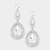 Crystal Double Teardrop Earrings  | 277179