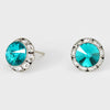 Teal Stud Earrings 0.5"