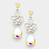 Little Girls AB Crystal Teardrop Earrings | 338859