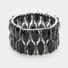 Black Crystal Marquise Stretch Bracelet | 345547