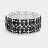 Jet Black Teardrop Pageant Prom Stretch Bracelet | 390315