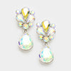 Little Girls AB Crystal Teardrop Earrings | 342288