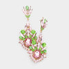 Pink and Green Chandelier Earrings | 415326