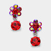 Little Girls Red Dangle Earrings