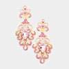Elegant Pink Hombre Pageant Chandelier Earrings | 413488