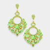 Little Girls Green Chandelier Pageant Earrings | 343353
