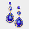 Sapphire Double Teardrop Earrings | 332422