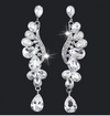 Long Crystal Earrings | HD206 Clear