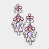 Elegant Purple Crystal Pageant Chandelier Earrings | 414581