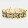 Multi Color Teardrop Crystal Pageant Bracelet  | 412413