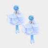 Periwinkle Fun Fashion Flower Dangle Earrings | 372257