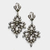 Black Diamond Chandelier Earrings on Hematite | 337005
