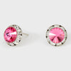 Rose Stud Earrings 0.5"
