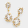 Crystal Teardrop Earrings on Gold | 327164