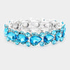 Aqua Teardrop Crystal Pageant Bracelet with AB Stones | 431869