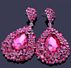 Chunky Fuchsia Pageant Earrings | NO AB | H202-7 NAB