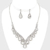 Crystal Teardrop Necklace Set | 280174