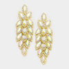 Long AB Crystal Marquise Earrings on Gold | 347041
