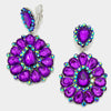 Purple Pageant Earrings | Clip On | 287450