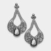 Large Chunky Cut Out Black Diamond Crystal Teardrop Earrings | Tammy Lee's | 368876