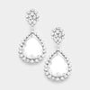 Small Crystal Teardrop Earrings | 358317