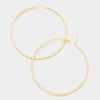 Gold Hoop Earrings | 2.5"