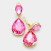 Little Girls Clip on Pink Teardrop Earrings | 334666