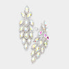 Large AB Crystal Leaf Clip On Earrings | 395661