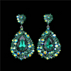 Big Emerald Earrings | Pageant Chunky Earrings | H202-7