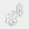 Crystal Flower Clip On Earrings | 216675