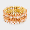 Marquise Peach Crystal Stretch Bracelet | 345585