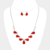 Red Crystal Necklace Set | 189735
