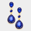 Sapphire Dangle Teardrop Earrings | 334662