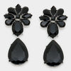 Black Teardrop Earrings | 298758