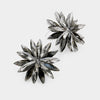 Black Diamond Crystal Flower Stud Earrings | 378408