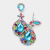 Multi Color Chandelier Earrings | Clip On | 423817
